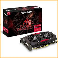 Видеокарта бу PowerColor Red Dragon Radeon RX 570 8GB GDDR5 (AXRX 570 8GBD5-DM)